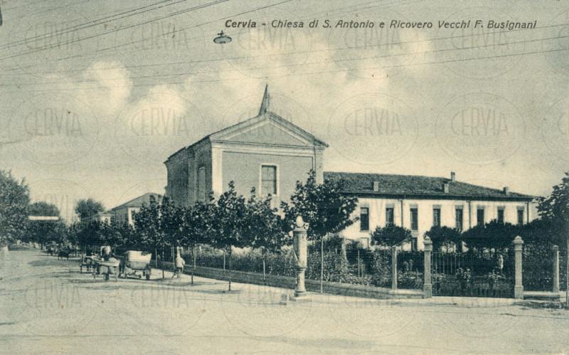 Cervia - Chiesa diS Antonio e Ricovero Vecchi F. Busignani