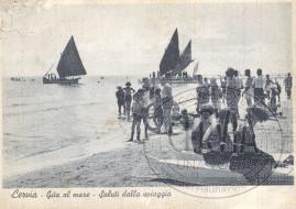 Cervia - Gita al Mare - Saluti dalla Spiaggia